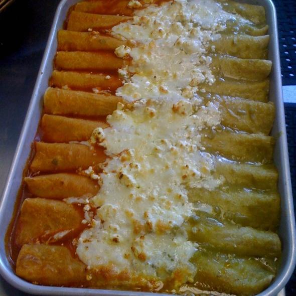 Butternut squash enchiladas at Flying Pi Kitchen in Wilmington, North ...