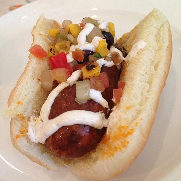 Chorizo dog was quite tasty today at @ Rosen Shingle Creek Hotel