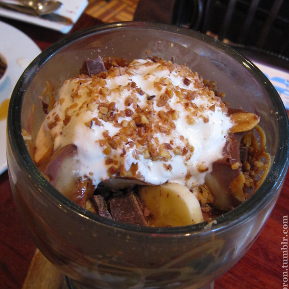 The Euphoria Peanut Butter Chocolate Fudge Sundae @ Max Brenner