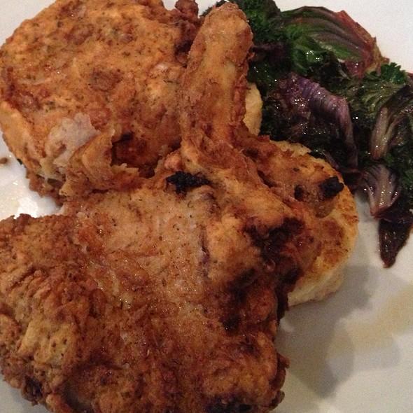 Southern Bone-In Duroc Pork Chop - The Mark Dine & Tap, South Bend, IN