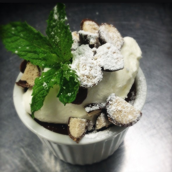 Malt Chocolate Pot De Creme With Chocolate Covered Malt Balls! @ Ste. Marie
