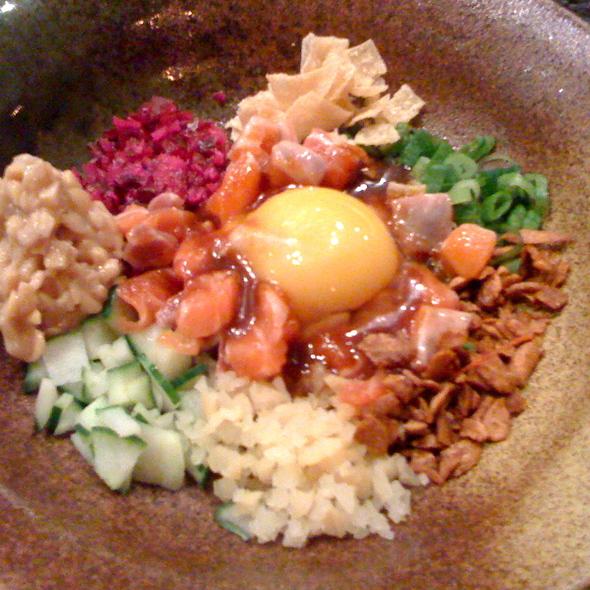 Salmon Natto Yukke @ Guu Izakaya