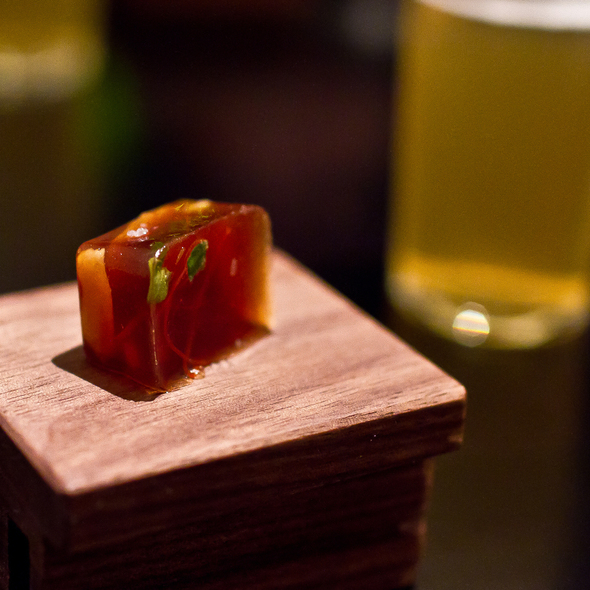 Caramelized anchovy, peanut and lily bulb @ Benu