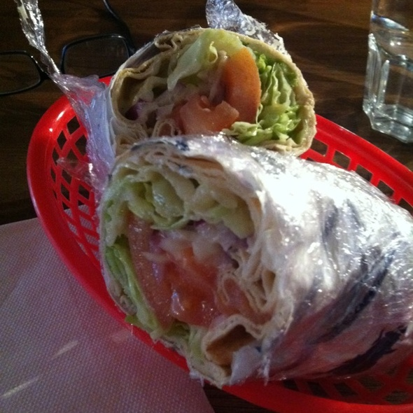 Smoked Salmon Wrap @ Deli and Coffee