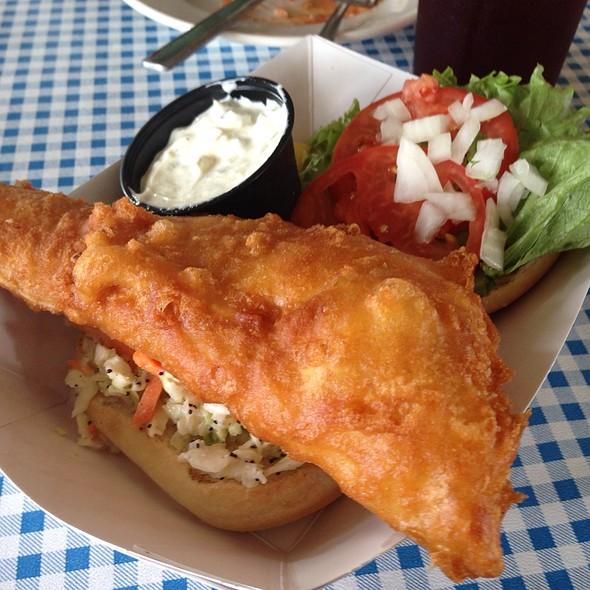 Fried Haddock Sandwich @ Dug's DIve