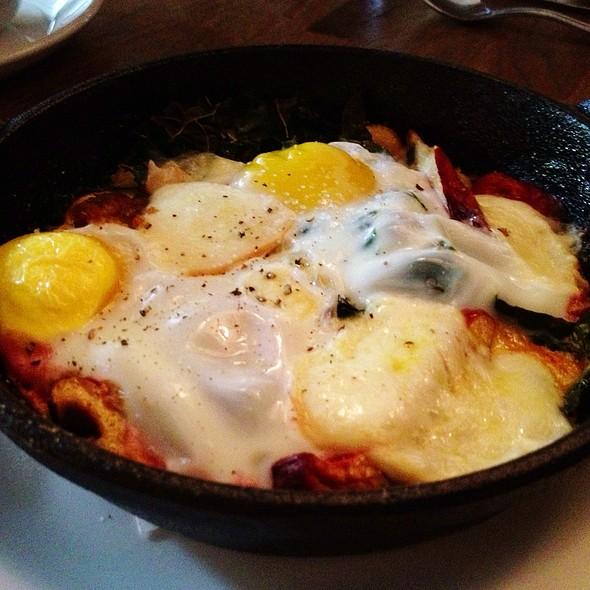 Baked Eggs With Lobster Mushrooms @ Stoneburner