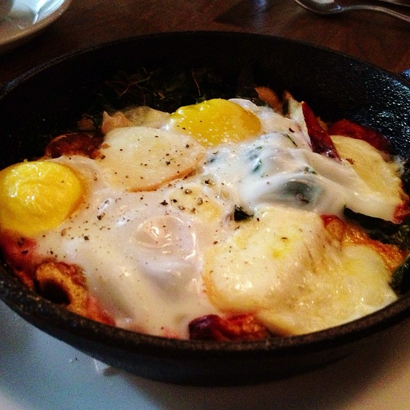Baked Eggs With Lobster Mushrooms @ Stoneburner