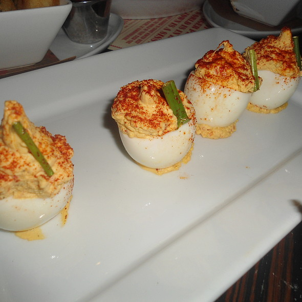 Truffle Deviled Eggs with Paprika, Chive @ The Office