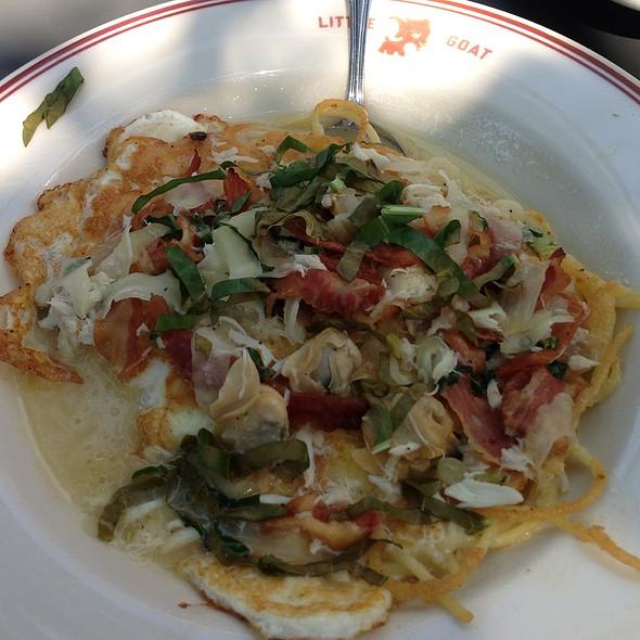 Breakfast Spaghetti 'N Clams 'N Crab