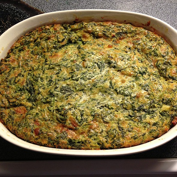 Spinach and Cheese Squares @ Home