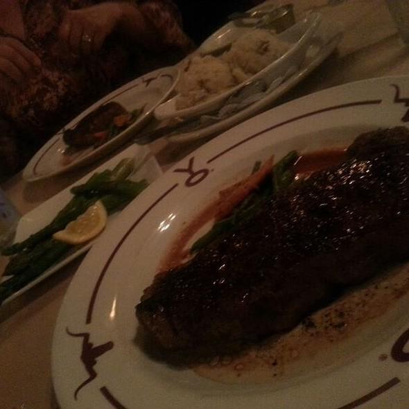 New York Strip Prime Steak Cooked Medium Plus - Y.O. Ranch Steakhouse, Dallas, TX