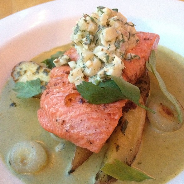 Lemon Butter Poached Copper River Salmon - Ellerbe Fine Foods, Fort Worth, TX
