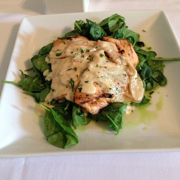 Grilled Salmon w/ Spinach - Lunch - Epicurean Cafe, Duluth, GA