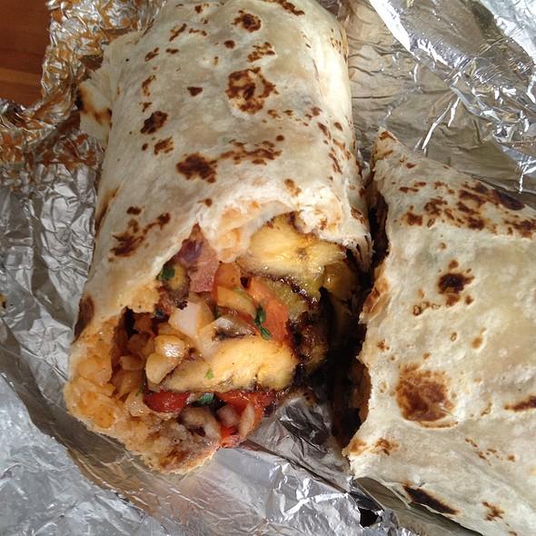 Fried Plantain and Black Bean Burrito @ Little Chihuahua Mexican