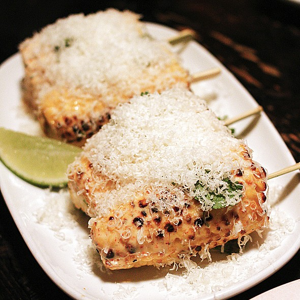 Ms G's grilled corn on the cob, parmesan, lime @ Ms G's