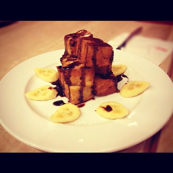 Banana Chocolate French Toast Tower