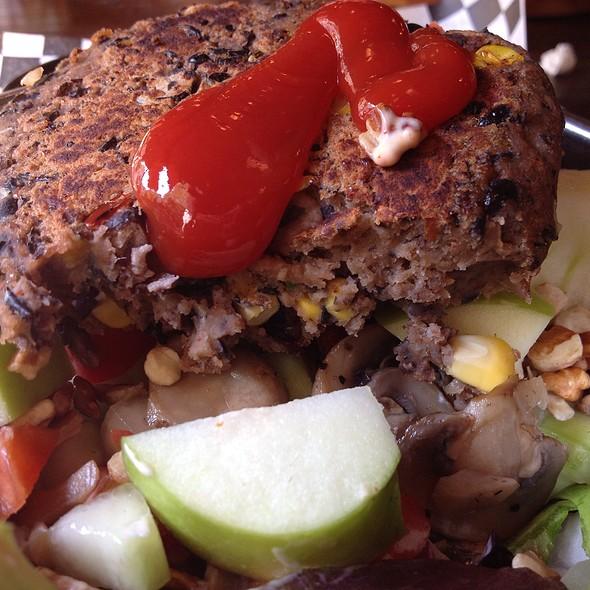 Salad W/ Black Bean Burger @ Bad Daddy's Burger Bar