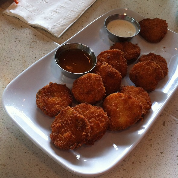 Fried Pickle Chips @ The Counter - Custom Built Burgers