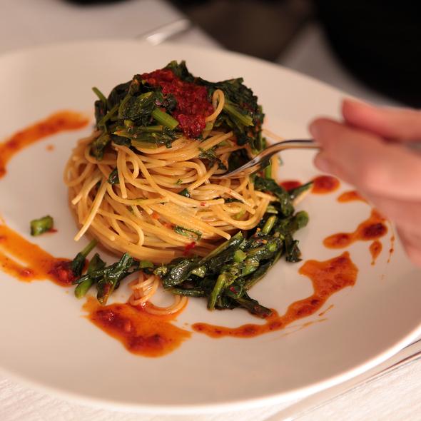 spaghetti chicory and 'Nduja