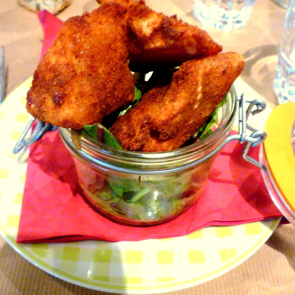 Fried Camembert Cheese @ le petit resto dans la prairie