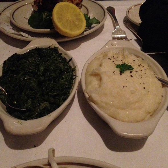 Creamed Spinach And Mashed Potatoes - The Prime Rib - Baltimore (The Original), Baltimore, MD