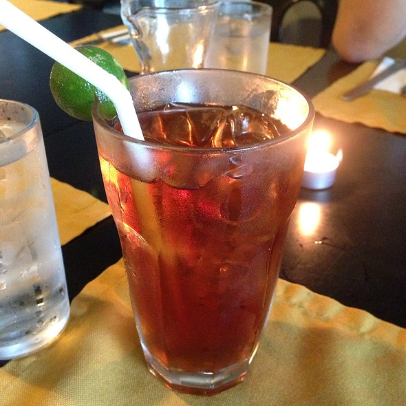 Iced tea @ The Chocolate Kiss Café