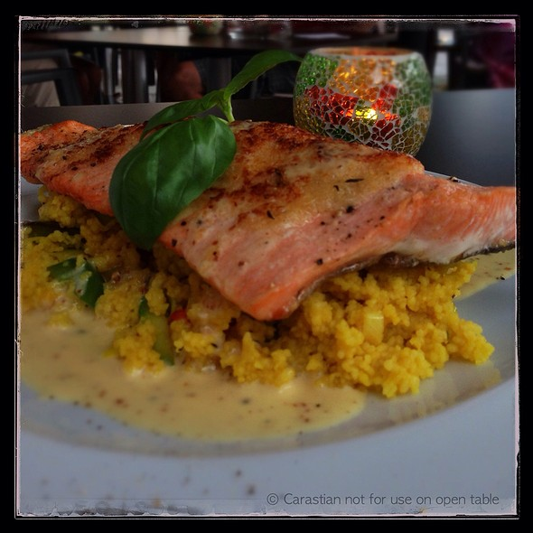 Salmon Trout With Thyme-Horseradish Crust On Couscous @ GENUSS ART