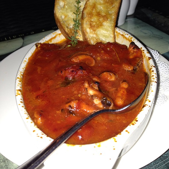 Grilled Octopus In Tomato Sauce - Zio Cecio, Dallas, TX