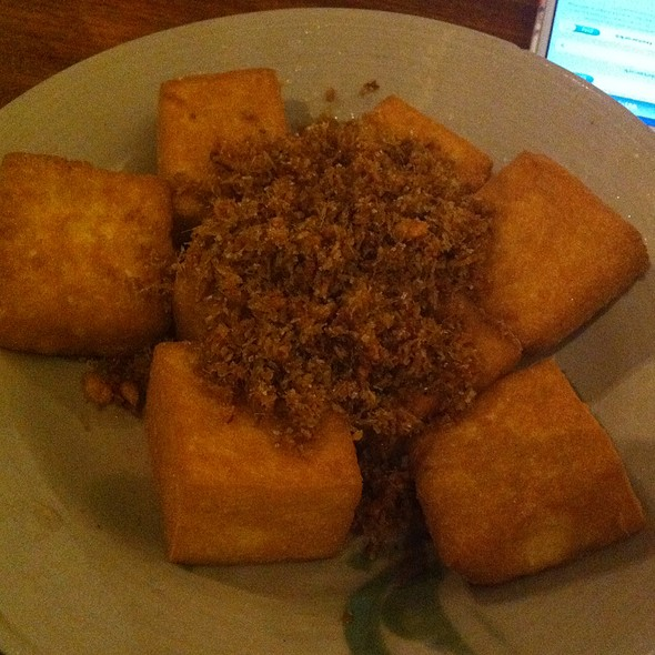 Deep Fried Homemade Tofu, Finely Chopped Dried Fish Herbed With Lemongrass