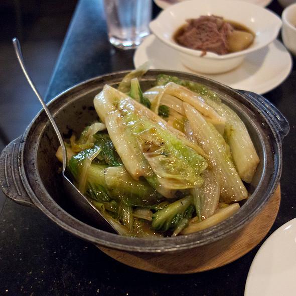 Sauteed Lettuce in Shrimp Paste