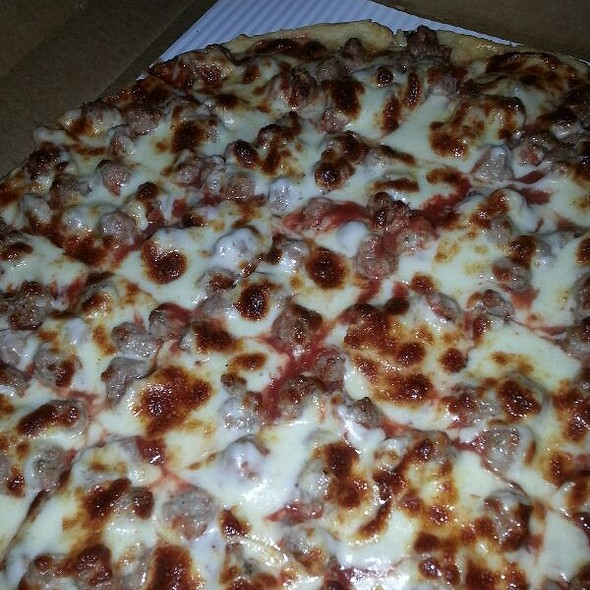 Extra Large Sausage Pizza @ Home Run Inn Pizzeria