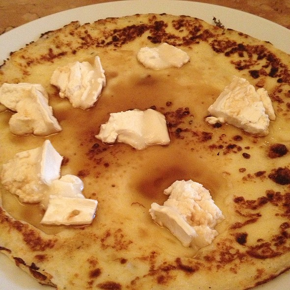 Pancake With Goat Cheese And Maple Syrup @ Westwind Cafe