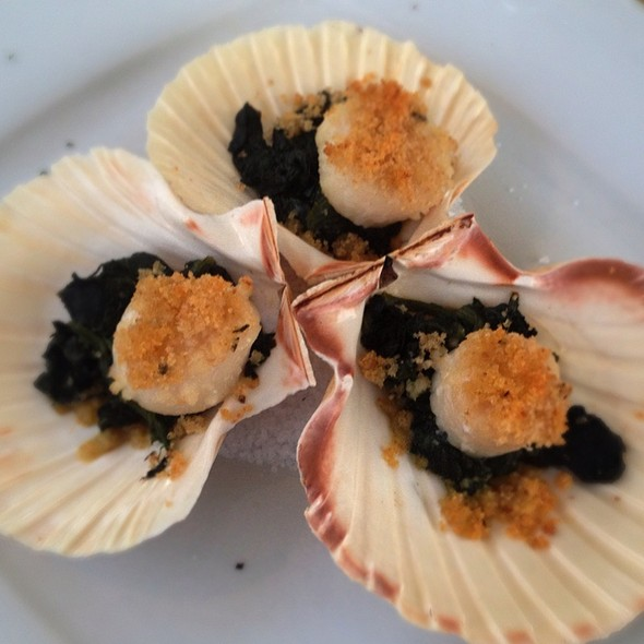 Scallops With Condiment Butter @ Trilogia