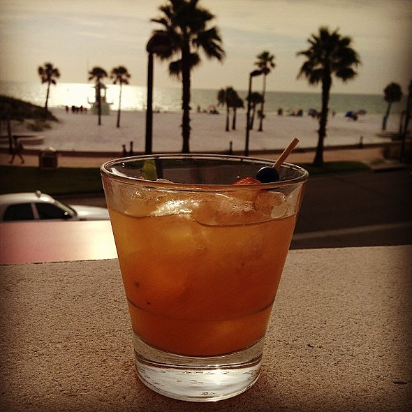 Peach mint julep w/ a view! @shorclearwater @hyattclearwater @ SHOR American Seafood Grill