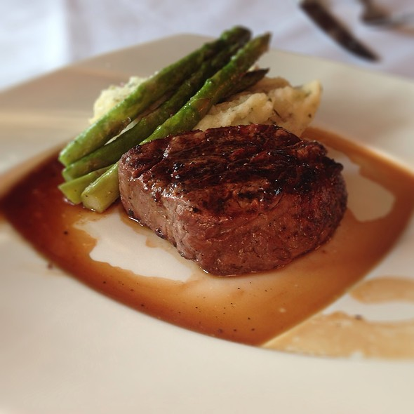 Filet Mignon, Mashed Potatos And Asparagus - Flaming Torch Restaurant, New Orleans, LA