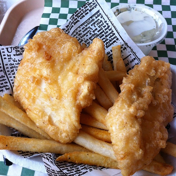 Cod Fish and chips @ Pike Place Chowder Restaurant  - Downtown Seattle