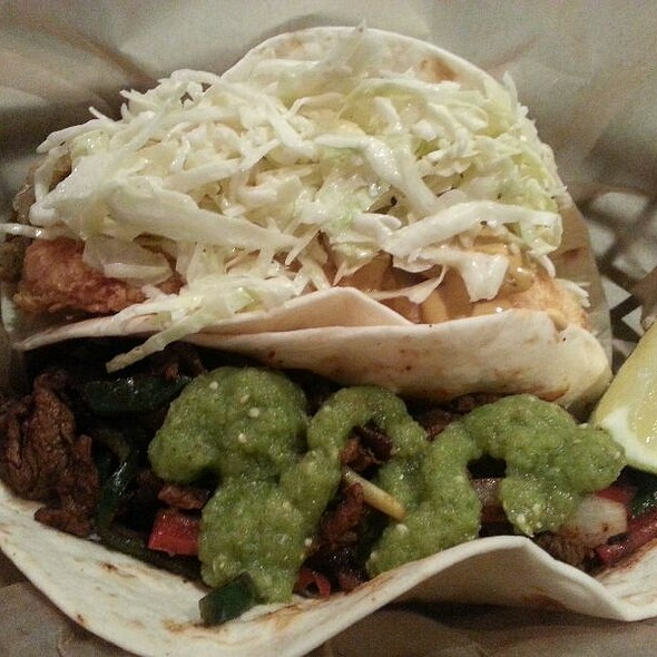 Fajita And Fried Fish Tacos @ Verde Taqueria