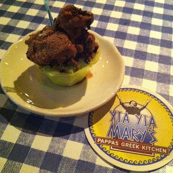 Chocolate & Pistachio Gelato. , , , @ Yia Yia Mary's Greek Kitchen