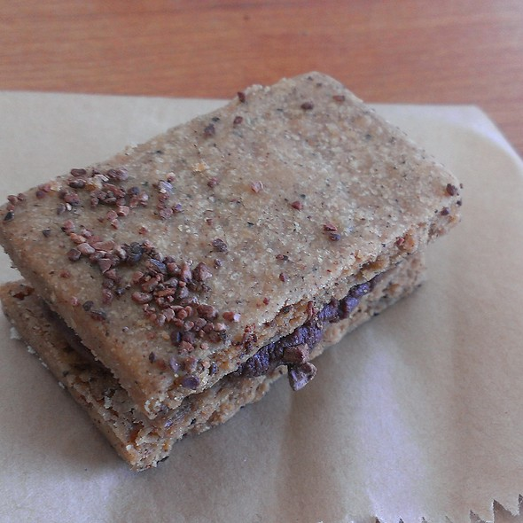 espresso shortbread cookie with cardamon @ Dandelion Chocolate