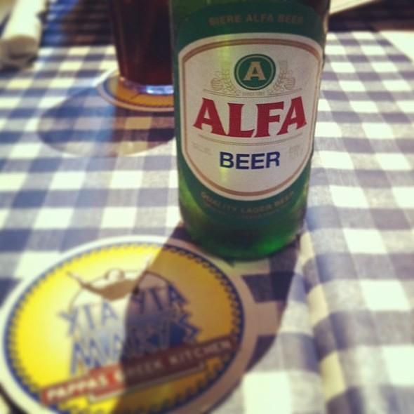 Alfa Beer. , , , @ Yia Yia Mary's Greek Kitchen