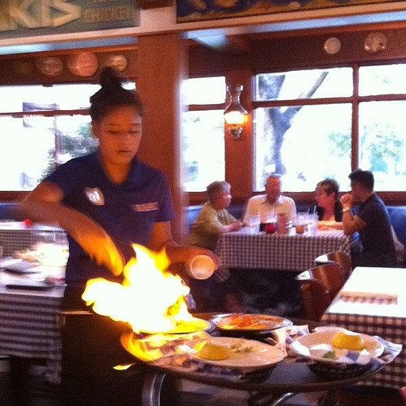 Saganaki! , , , @ Yia Yia Mary's Greek Kitchen