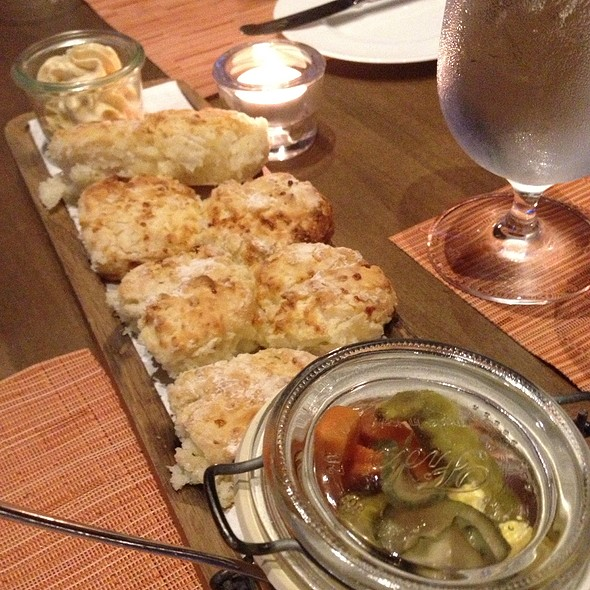 Cheese Biscuits And Pickled Vegetables @ Southern Art and Bourbon Bar