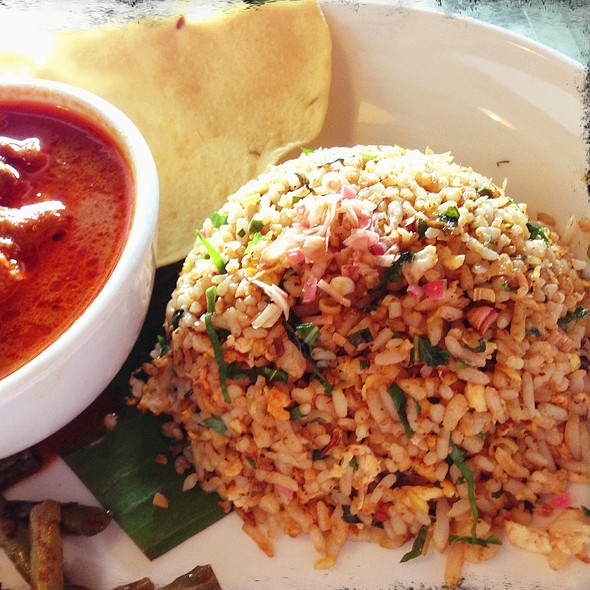 Fried Nasi Ulam With Chicken Curry @ fat SPOON
