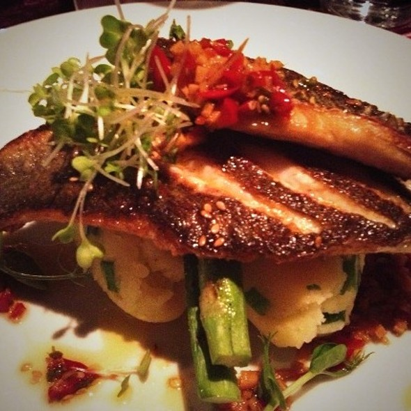 Baked sea bass @ Ely Wine Bar