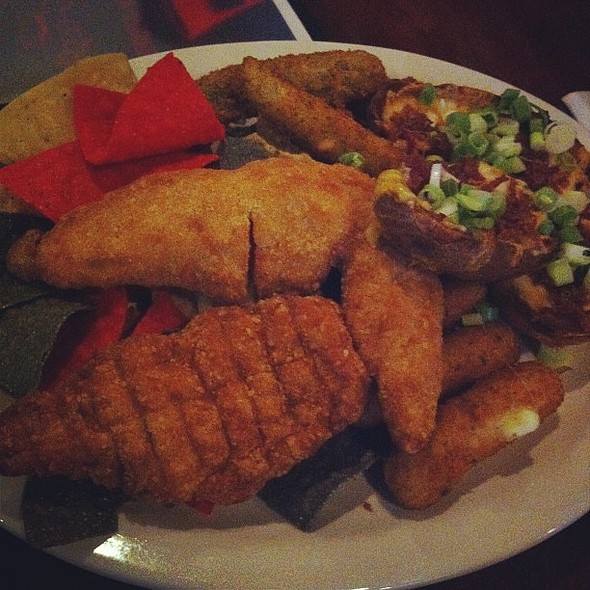 Appetizer Combo Platter ( also features fried pickles) , , , @ Red Ox Tavern