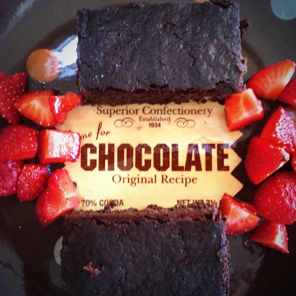 Gluten Free Chocolate Cake W/Local Fresh Strawberries @ Lolly and Cooks Upper Merrion St.