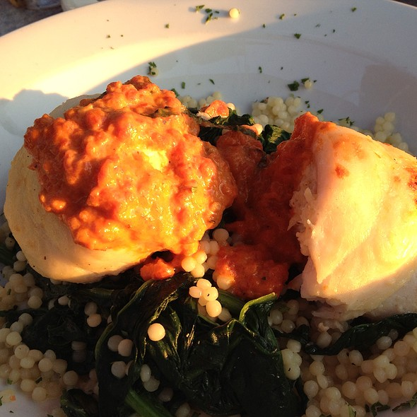 Baked sole stuffed with crab - Sunset Cove, Tarrytown, NY
