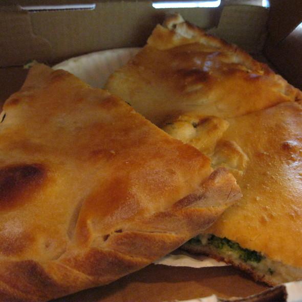 Spinach Calzone @ Cinderellas Restaurante