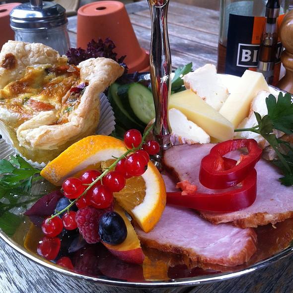 Kassler, Cheese, Veggie Quiche Tier 3 Of Breakfast