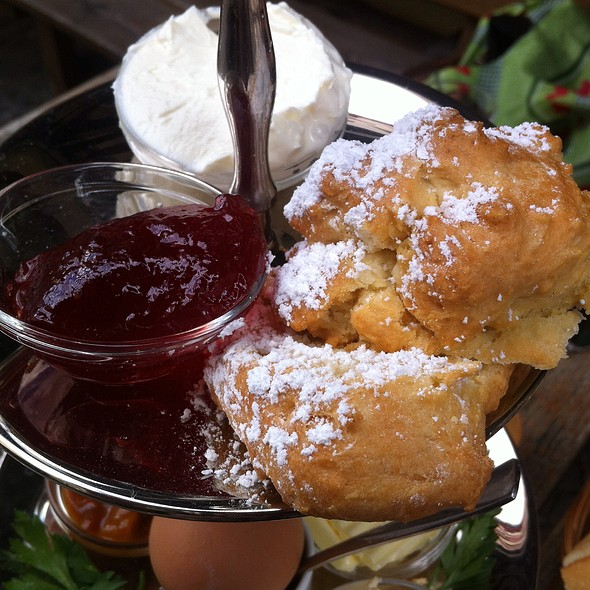 Jam & Cream Scone, Tier Three Of Breakfast Tray